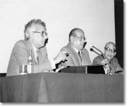 Memorial picture of the first board of the Egyptian Society of Neurological Surgeons, 1967. From the left are Drs. S. El Gindi, S. Boctor, and O. Sorour. El Gindi: Neurosurgery, 51(3).2002.789-796